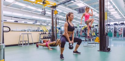female personal training class